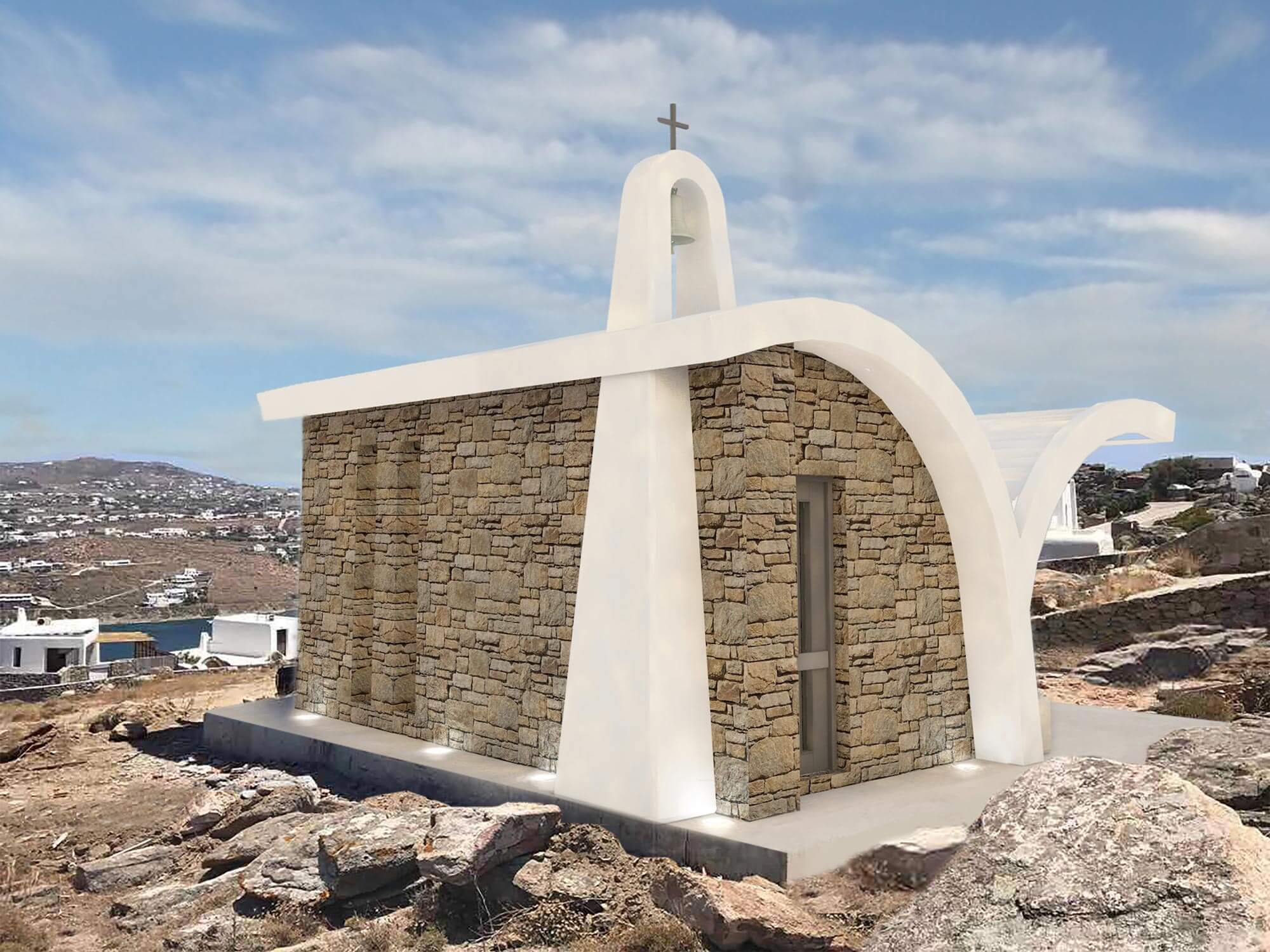 Seagull church Kanalia, Mykonos